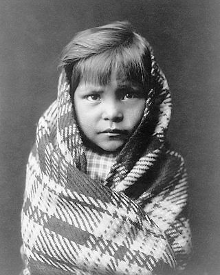 NAVAJO INDIAN CHILD EDWARD S. CURTIS 1905 11x14 SILVER HALIDE PHOTO PRINT