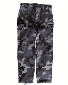 EE-UU-Ranger-Pantalon-Tipo-BDU-Dark-Camuflaje-camping-exterior-MILITAR