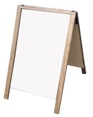 A-frame Dark Hardwood Sidewalk Sandwich Board Dry Erase Panels Sign 24 X 36