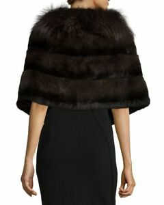 Fur Stole  /   Wool Coat with fur trim