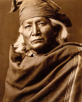 NATIVE AMERICAN CHINO BY EDWARD S. CURTIS 11x14 SILVER HALIDE PHOTO PRINT