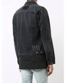 Ksubi Mens Classic Jacket Beaten Up Black