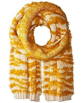 "NEW BCBGMAXAZRIA Turmeric-Textured-Animal-Knit-Thick-Scarf-Mufler  74""L x 16""W"