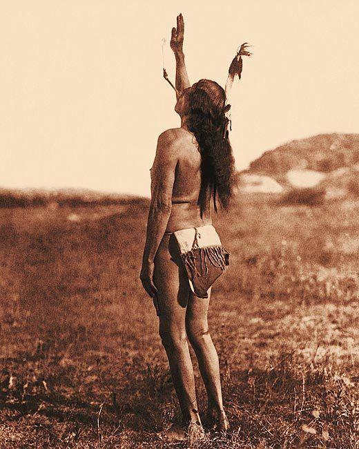 SUN DANCER SIOUX INDIAN BY EDWARD S. CURTIS 8x10 SILVER HALIDE PHOTO PRINT