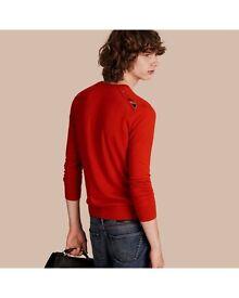 Burberry Cashmere Jumper red size medium