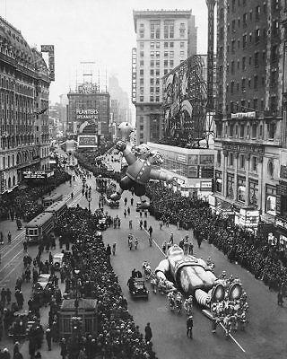 MACYS Erntedankfest Tag Parade Times Square 11x14 Silber Halogen Fotodruck