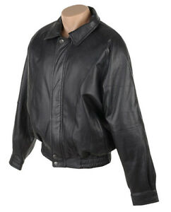 Beautiful soft leather bomber style men's jacket (the Bay)