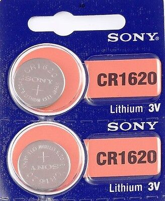CR 1620 SONY LITHIUM BATTERIES (2 piece) 3V Watch New Authorized Seller EXP 2027