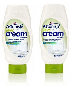 2 x Astonish UPVC Cream Cleaner 550ml Cleans Whitens & Revives UPVC