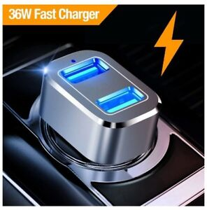BRAND NEW Dual-USB Fast Car Charger