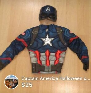 Captain America HALLOWEEN COSTUME FOR KIDS 2-5 y/o