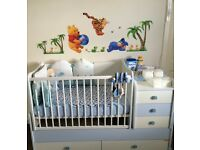 Baby cot bed with storage