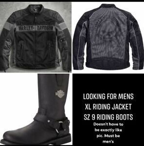 Looking for XL Men's Harley Jacket & Boots