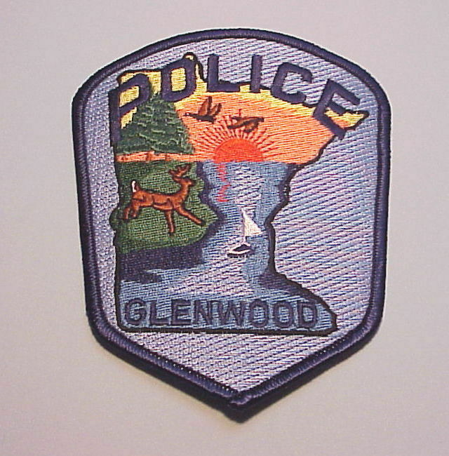 GLENWOOD  MINNESOTA  MN   POLICE DEPT. PATCH  FREE SHIPPING!!!