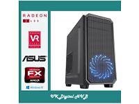 Brand New! ASUS RX 480 AMD 4.1GHz Six Core FX-6300 Gaming PC 8GB 500GB,