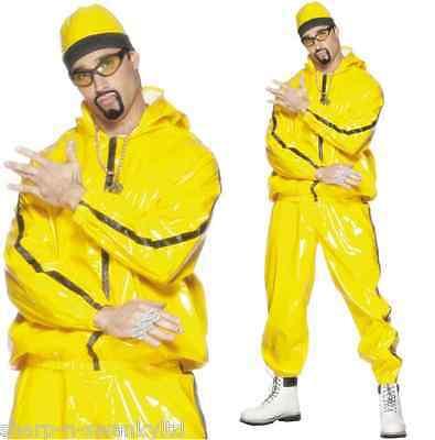 Herren 2000s Ali G Rapper Schalen-Anzug Promi Stag Kostüm Kleid Outfit