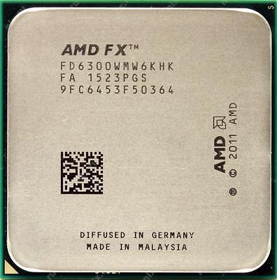 AMD FX-6300 Black Edition 3.5 GHz Six Core 95W FD6300WMW6KHK (OEM VER.)
