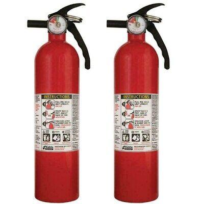 2 Pack Fire Extinguisher Abc Home Car W Bracket Mount Multiple Use Kidde 2.5lbs