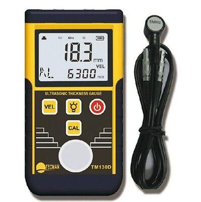 (Digital Ultrasonic Wall Thickness Gauge Tester Meter Fo Metal Steel TM130D 225MM)