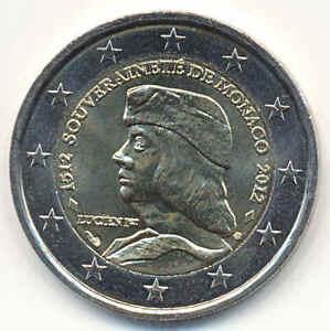 MONACO 2 EURO GEDENKMÜNZE 2012 - Lucien 500 Jahre Unabhängigkeit - Souveränität