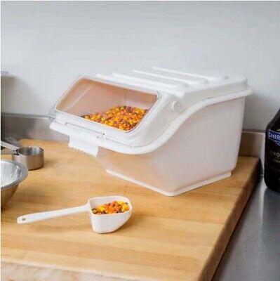 3 Pack 2.6 Gallon Shelf Ingredient Bin Flip Lid Scoop Space Saving Storage
