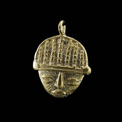 Pendant Mask Ashanti Tribale Art African Tribale Figure Brass B