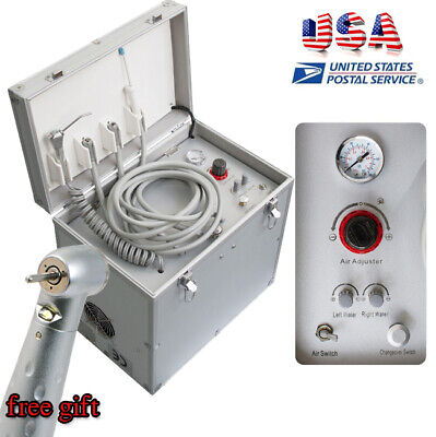 Portable Dental Delivery Cart Dental Turbine Unit W Compressor Led Handpiece