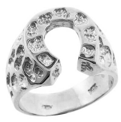 Horse Nugget - Silver Horse Shoe Nugget Ring