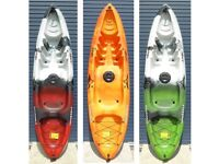 Mamboola Edge - Sit on Top single person kayak with back rest & paddle.