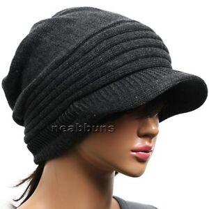 brim beanie mens womens cap hats knit crochet rasta b29