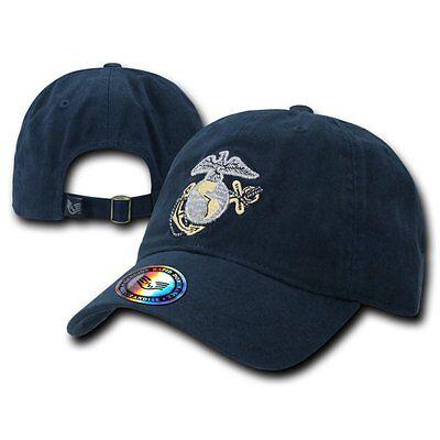 Navy Blue United States Marine Corp Usmc Polo Baseball Marines Cap Hat Caps Hats