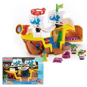 FISHER PRICE LITTLE PEOPLE- LIL PIRATE SHIP- BNIB