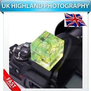 NEW-Camera-Hot-Shoe-Spirit-Level-Triple-3-Axis-Bubble