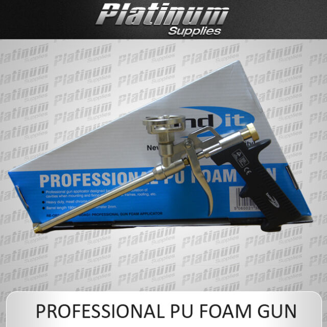 PROFESSIONAL PU EXPANDING FOAM GUN APPLICATOR CHROME BOND IT