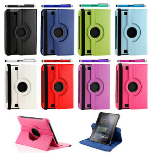 360 Degree Rotating Leather Case Cover Stand for Amazon Kindle 7