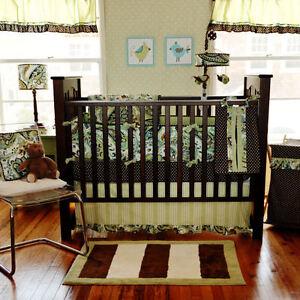 My-Baby-Sam-4-Piece-Baby-Crib-Bedding-Set-Paisley-Splash-in-Lime-NEW