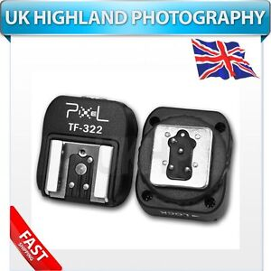 Pixel TF-322 Flash Hot Shoe Adapter with Extra PC Sync Port for Nikon Flashgun