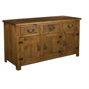 NEW-SOLID-WOOD-SIDEBOARD-DRESSER-CUPBOARD-BASE-RUSTIC-PLANK-PINE-FURNITURE