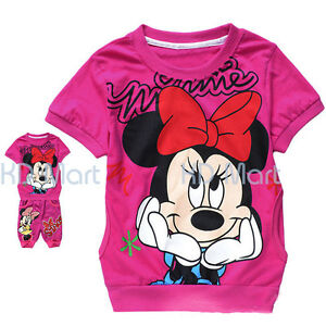 New Hello Kitty/Minnie Mouse Girls Tracksuit 2 PCS Outfit Sets size1.2.3.4.5.6