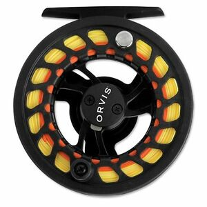 Orvis-Encounter-Large-Arbor-II-Fly-Reel-Disc-Drag-Black-New-for-4-6-Weight