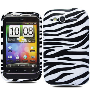For HTC Wildfire S Stylish Silicone Gel Floral Skin Mobile Phone Case Cover +SP