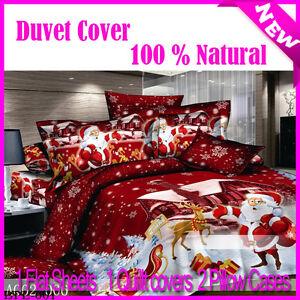 Gentle-Santa-Claus-Duvet-Quilt-Comforter-Cover-set-Double-Size-New-100-Cotton