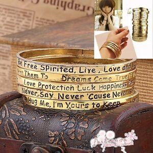 1-Pc-5-Styles-Antique-Gold-Fashion-Cute-Wishing-Bracelet-Bangle