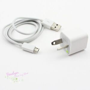 AU AC Charger n Micro USB Data Cable for HTC Samsung Galaxy S S3 S2 i9300 i9100