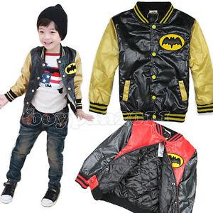 New-Kids-Boys-Girls-Sports-Fashion-Long-Sleeve-Cotton-Jacket-Age-2-7Years