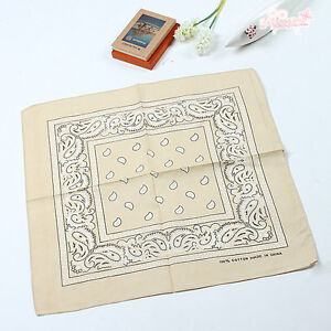 100% Cotton Paisley Bandanas Double Sided Head Wrap Scarf Wristband 23 Colors
