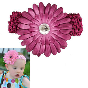 Free ship baby girl hair daisy flower bow clip headband new 14 colours available
