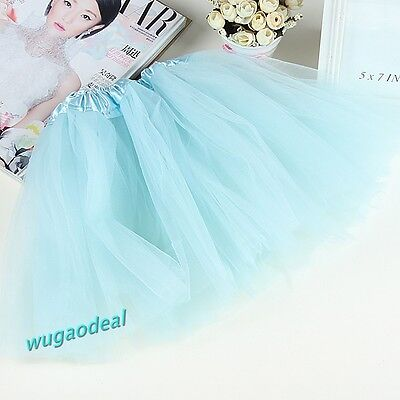 1 Pcs Light Blue BALLET TUTU Lovely Girl Party Skirt Free Ship on Rummage
