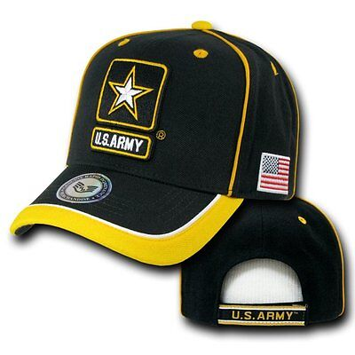 Black United States U.s. Army Star Military Flag Baseball Ball Cap Caps Hat Hats