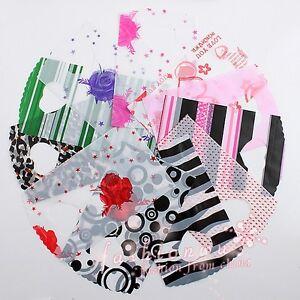 Lot-100Pcs-Pretty-Mix-Pattern-Plastic-Jewelry-Gift-Bag15X9cm